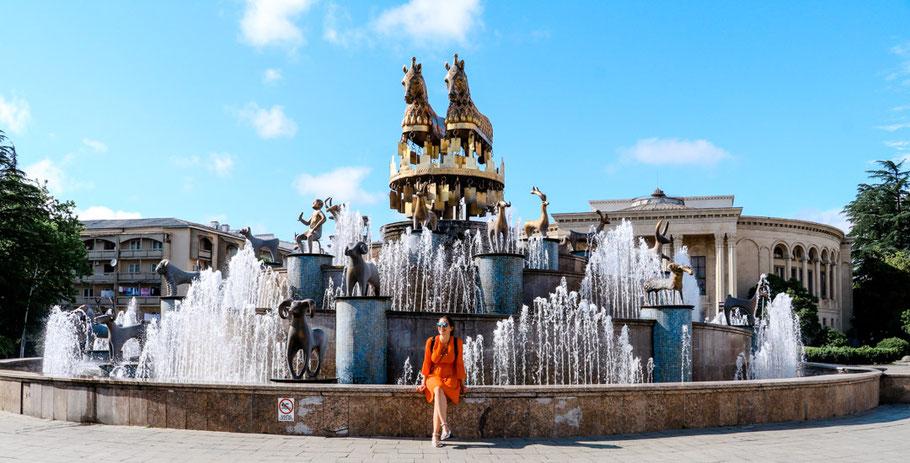 Kutaisi Reisetipps Brunnen bei Hauptplatz