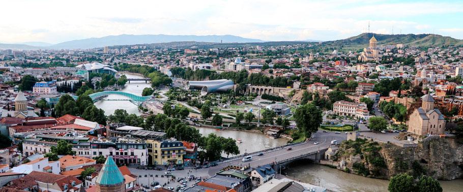 Ausblick über Tiflis von Narikala