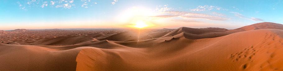 Sonnenuntergang in der Erg Chebbi