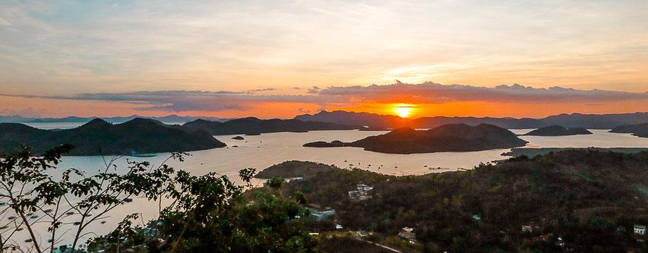Sonnenuntergang in Coron