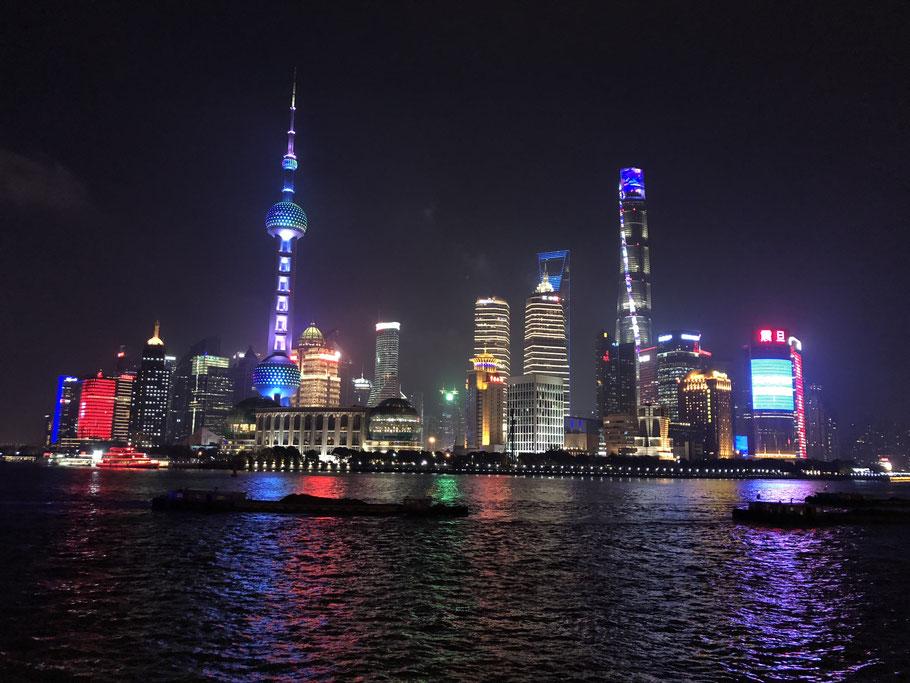 Skyline of Shanghai / Pudong at night