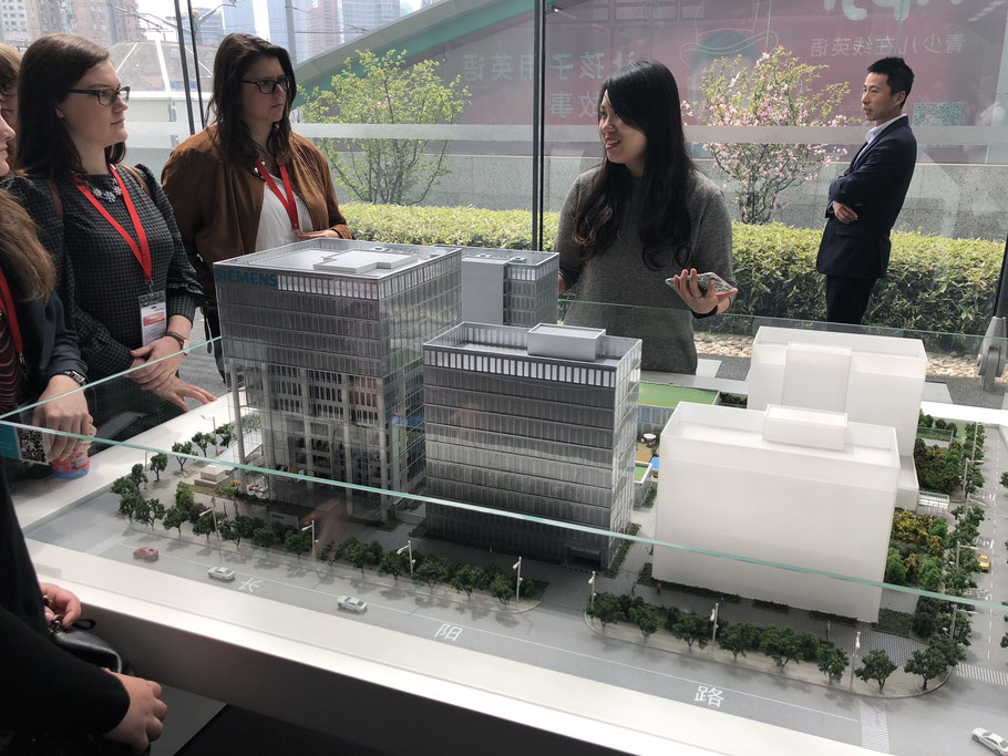 A model of the Siemens Real Estate Shanghai site