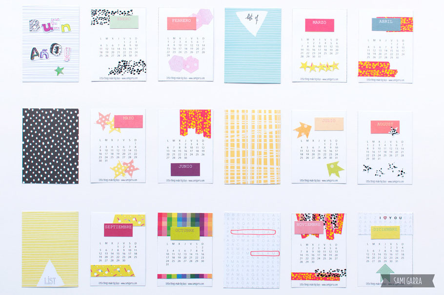 "Crafternoon: calendario 2016 ""de bolsillo"" by Sami Garra"