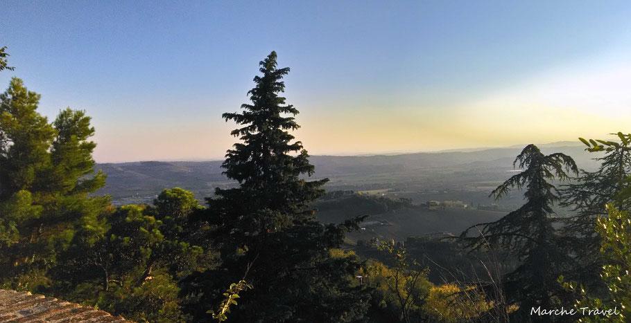 Panorama dal Colle dell'Infinito a Recanati