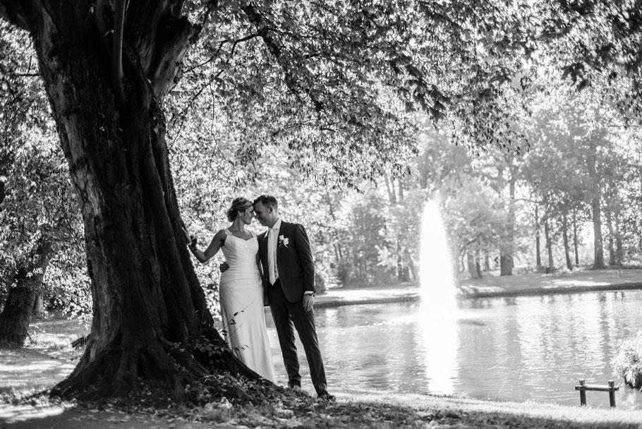 trouwfotografie, culemborg, trouwfoto's, bruid, bruidegom, zwartwit
