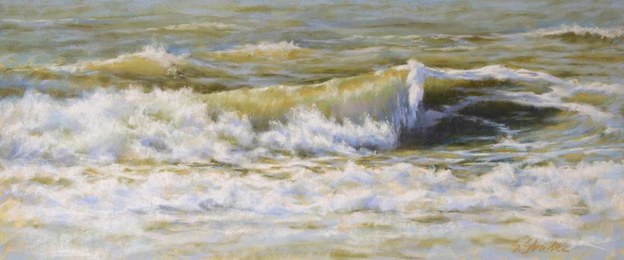 Malerei Gemälde Nordsee Wellen Strand