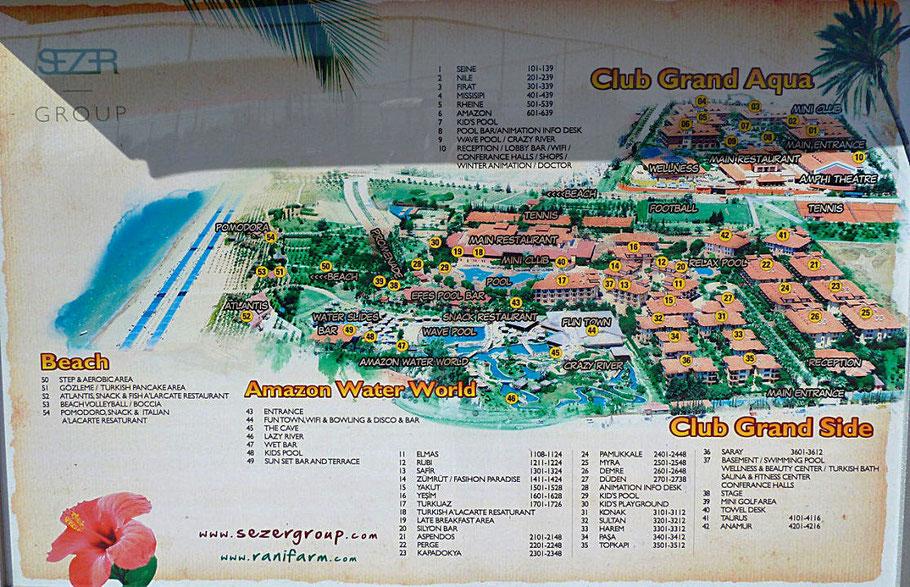 Club Grand Aqua ★★★★★ Hotel Lageplan