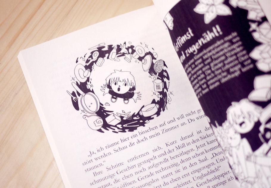 """Illustration """"Der Durcheinanderwirbelzauber"""""""