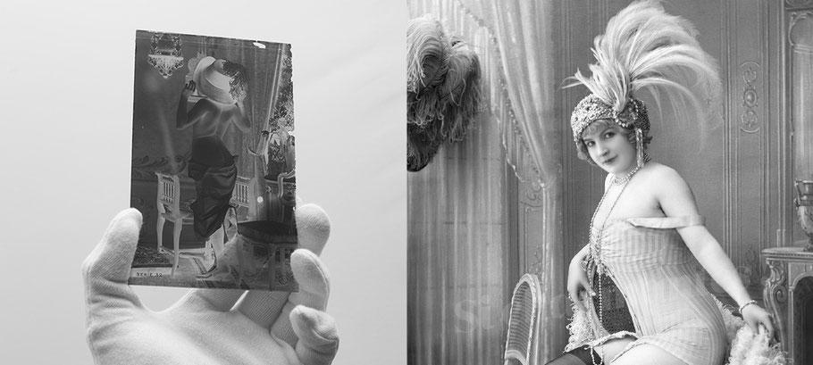 jean agelou - agelou - belle epoque - charme - erotique - 1900 - 1920 - nu - nude - cabaret - french card - risk-  carte postale - vintage