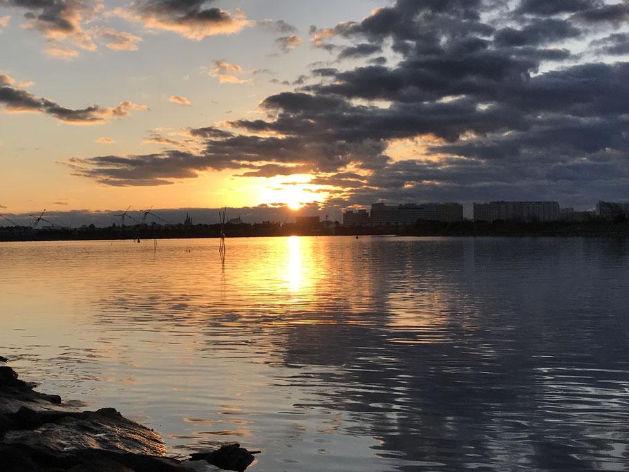 2019年1月1日【初日の出】葛西臨海公園(東京)から昇る初日の出