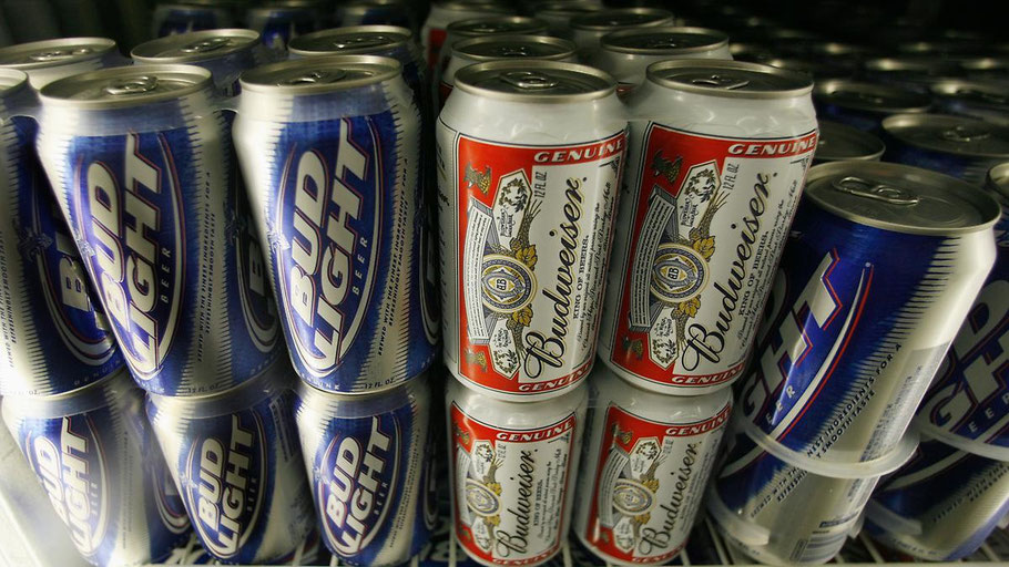 Budweiser Bier in Dosen