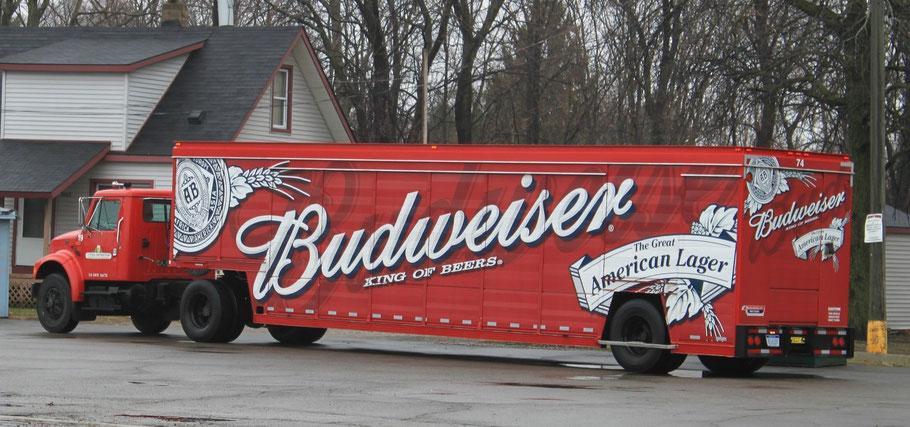 Truck Budweiser beer Metallschild