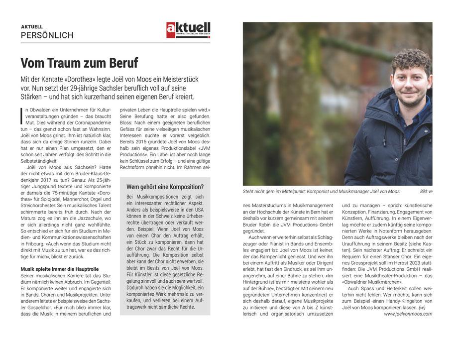 joel von moos dorothea jvm productions robin aktuell obwalden komponist komposition obwaldner musikmärchen stans requiem