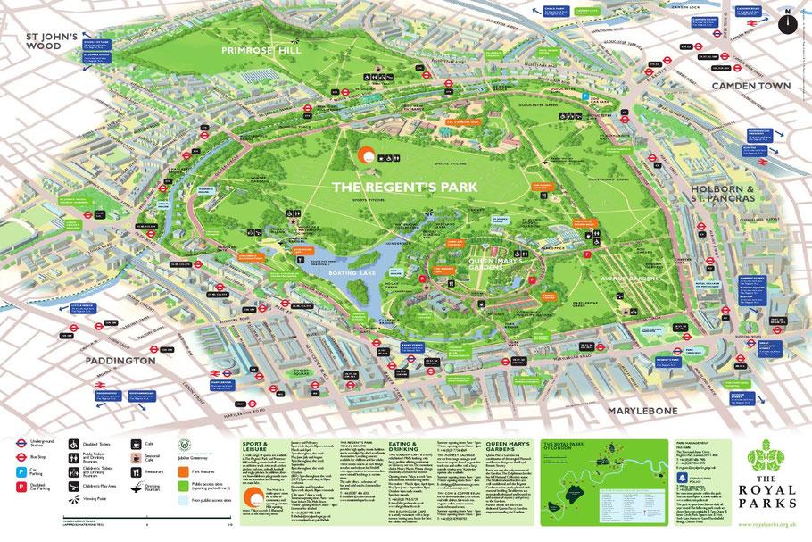 Plan de Regent's Park