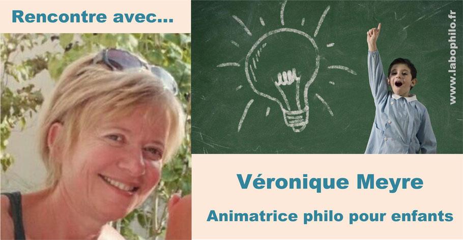 Véronique Meyre. Animatrice philo pour enfants. Les philosophes en herbe