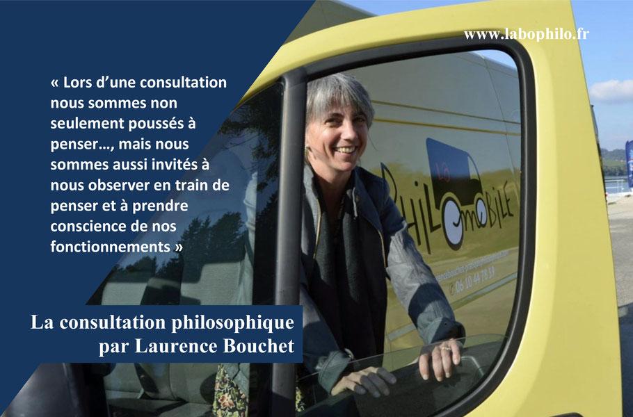 La consultation philosophique par Laurence Bouchet.