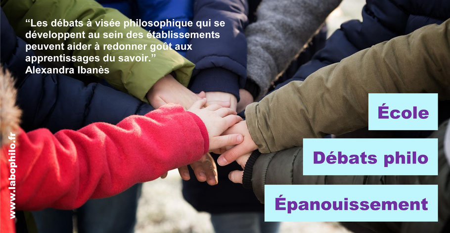 Débats à visée philosophique, école, bienveillance.