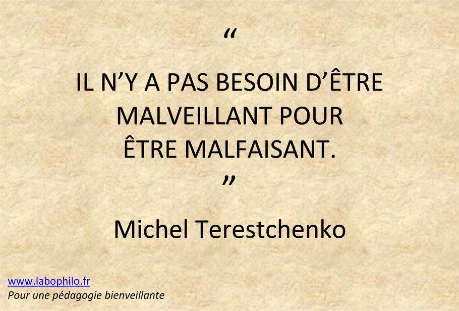 Michel Terestchenko. Altruisme. éducation bienveillante. éducation positive. soumission à l'autorité. Milgram. Zimbardo.