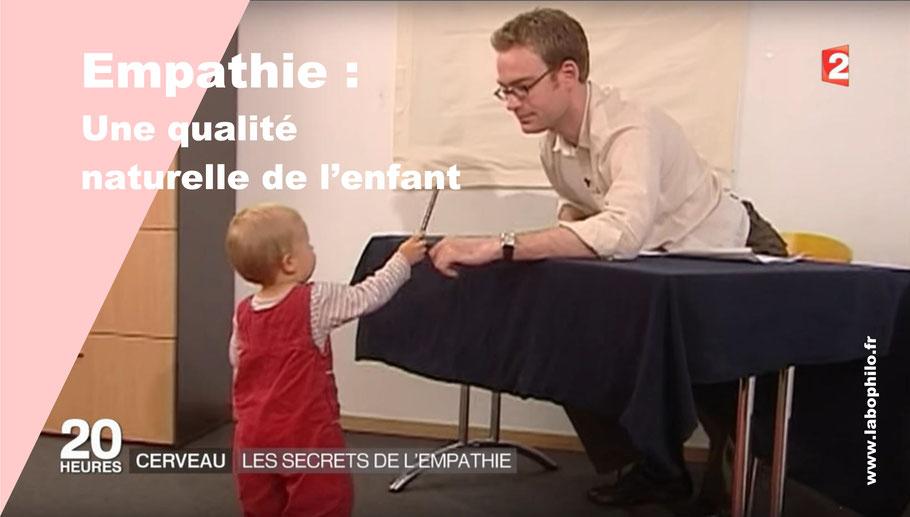 Empathie des enfants. Altruisme. Felix Warneken.