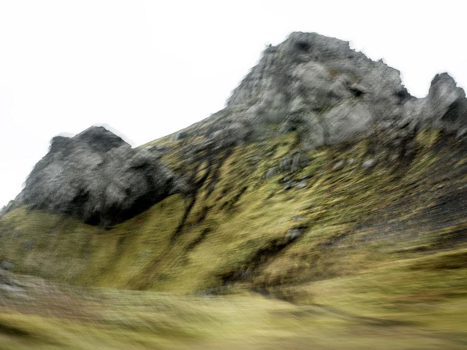 Gemäldeartige Landschaftsaufnahme als Farb-Photographie, Island/Iceland
