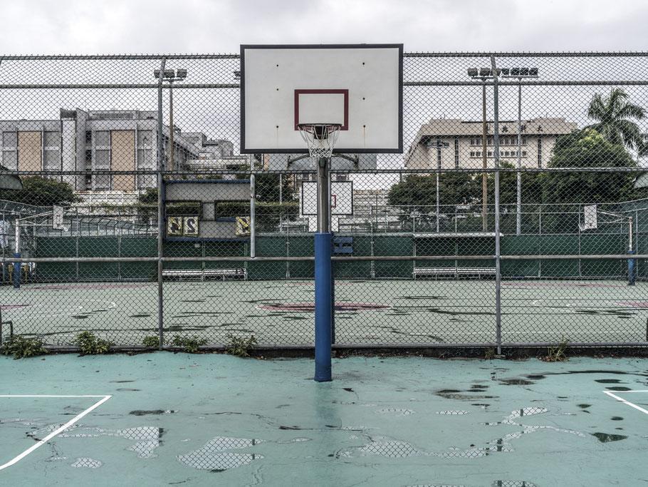 Sportplatz im Zentrum von Taipei, Taiwan, als Farbphoto