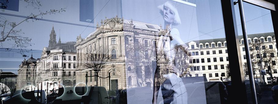 Alte Börse in color als Panorama-Photographie, München