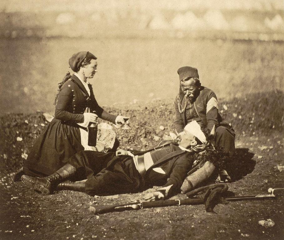 Robert Fenton - Un zouave blessé en 1853