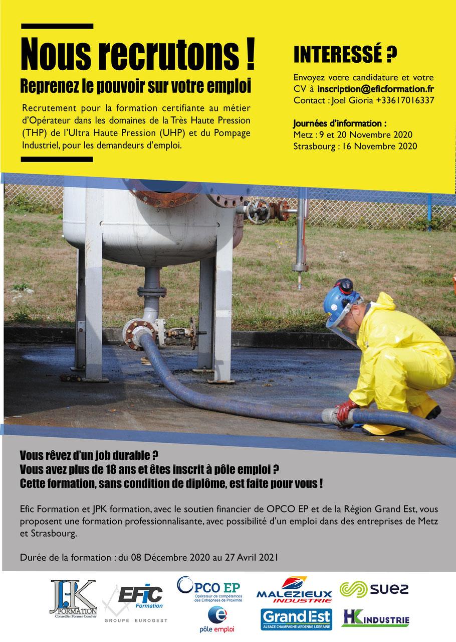 JPK Formation votre partenaire formation dans les domaines de la THP UHP et du Pompage Industriel