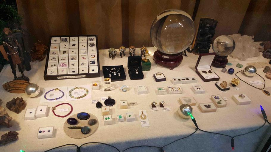 Dieter Stephan ist Aussteller auf Messen und Börsen für Edelsteine und Mineralien in ganz Deutschland