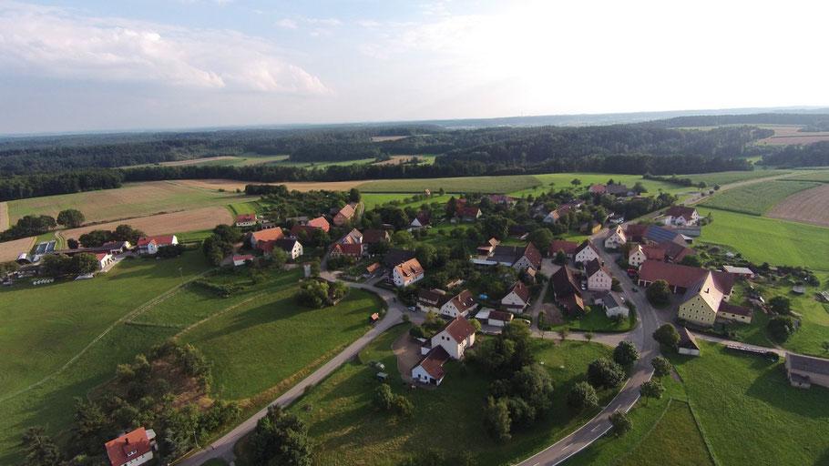 Gehrenberg; Feuchtwangen; Deutschland; Luftbild