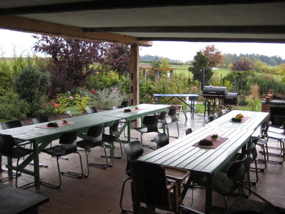 Bayerische Sommerküche : Gästegarten sommerküche der kleine bauernhof bauernhofurlaub