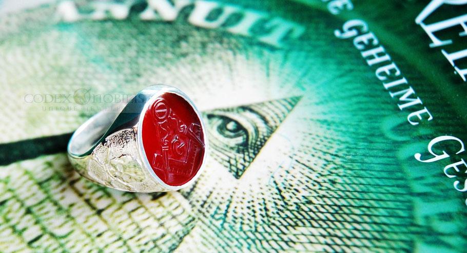 Masonic Mason Freimaurer Unikat Ring