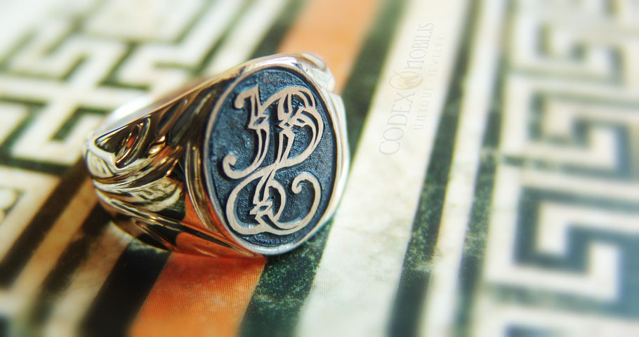 Siegelring Signet Ring Crest Wappen Ring Unikat Gravur Silber Gold Platin Codex Nobilis Zsolt Mozes Design Anfertigung