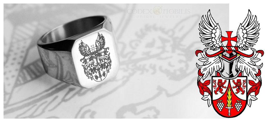 Siegelring Signet Ring Wappen Anfertigung Unikat