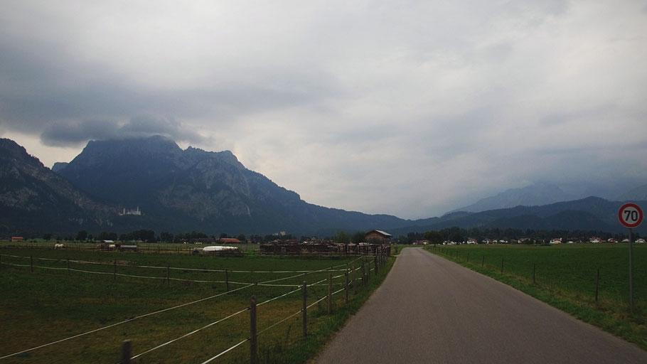 bigousteppes route bavière allemagne montagnes orages nuages