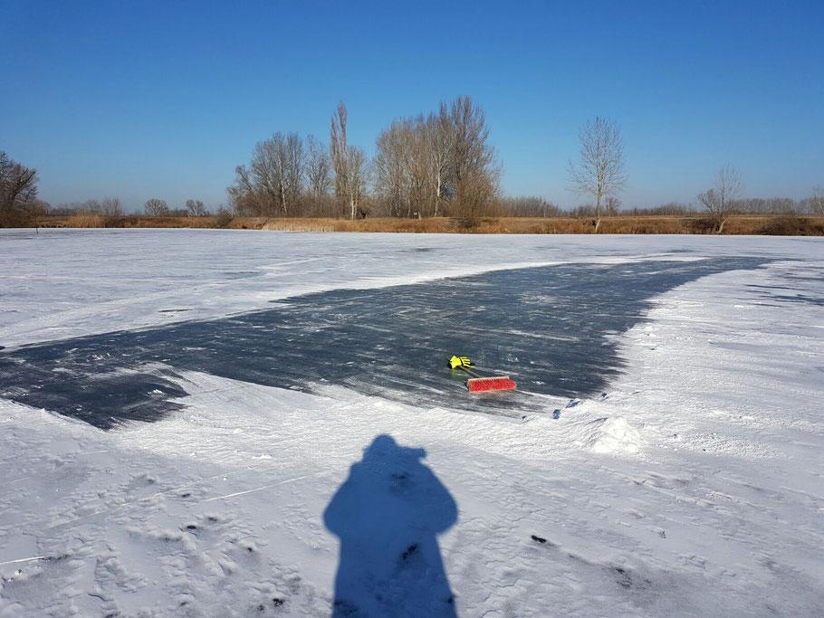 Anfang Januar kann auch mal der See zufrieren ...