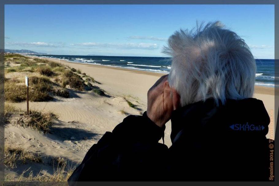 Was fotografiert Dagmar am Strand von Pepe?