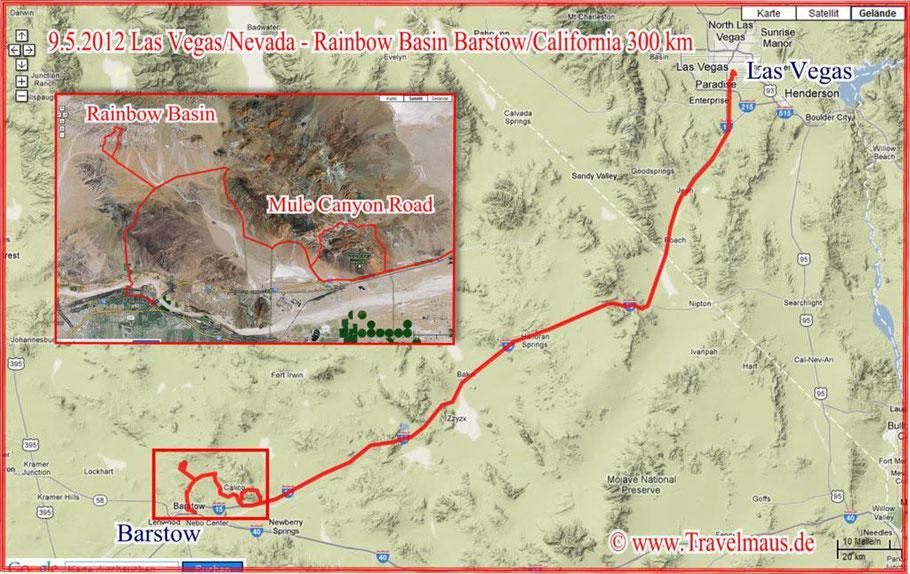 Las Vegas - Rainbow Basin - Barstow 300 km