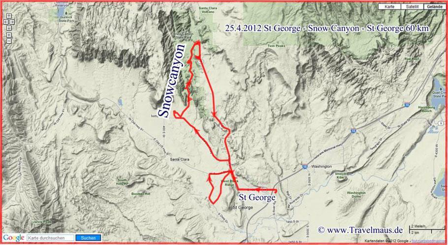 St George - Snowcanyon -St George 60 km