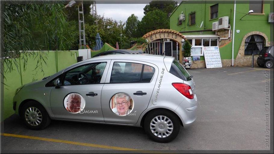 Unser Leih-PKW Opel Corsa...leicht verfremdet von uns ;-)!