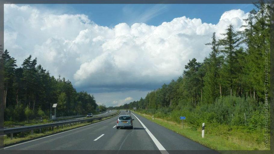 Fahrt von Willich bis Strücklingen; 275 km,vorwiegend über A31 und B401