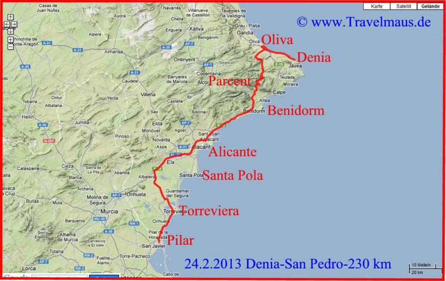 Denia-San Pedro/Pilar 230 km