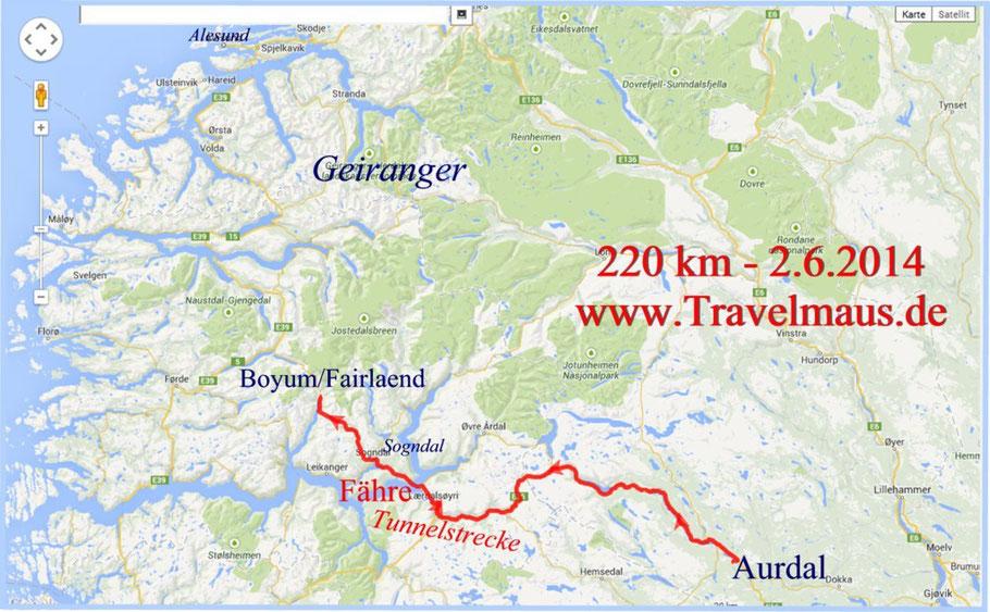 Aurdal-Bayum 220 km
