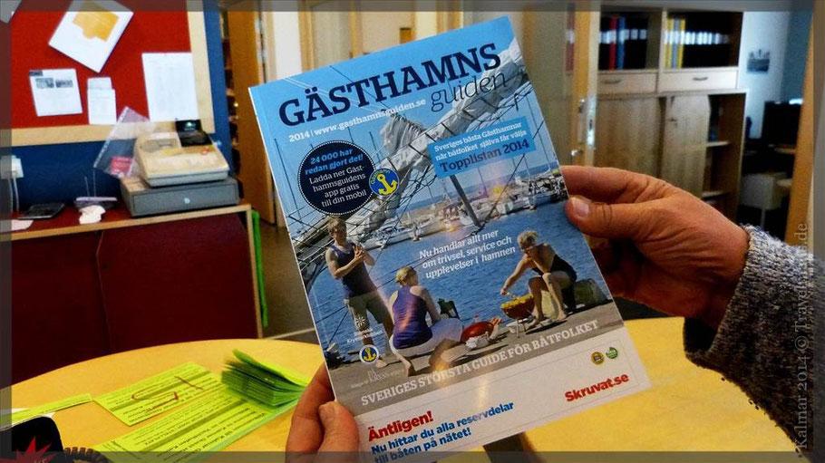 Katalog erhältlich im Touristenbüro- beinhaltet u.a. Hinweise auf Stellplätze in Häfen