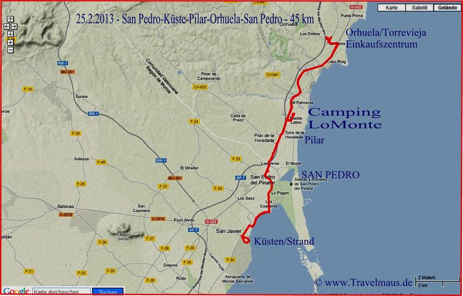 San Pedro-Pilar-Torrevieja-San Pedro-45 km