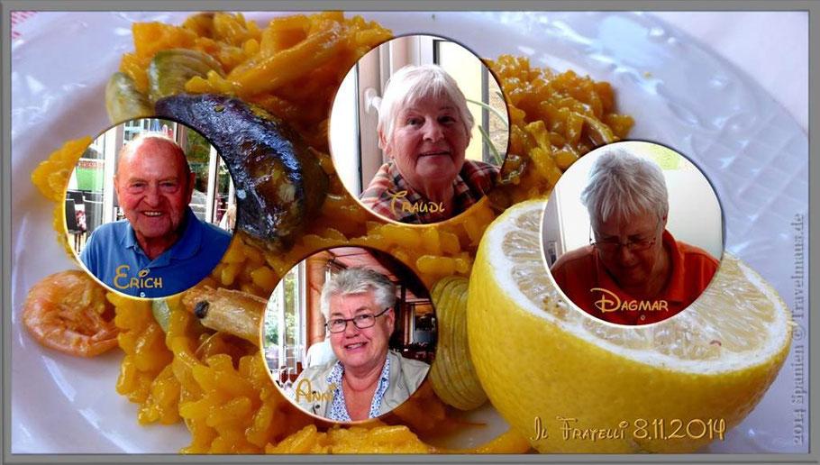 Wieder einmal Menu del Dia bei Il Fratelli:  Hähnchenfilet, Kabeljau, Steak, ...und mehr!