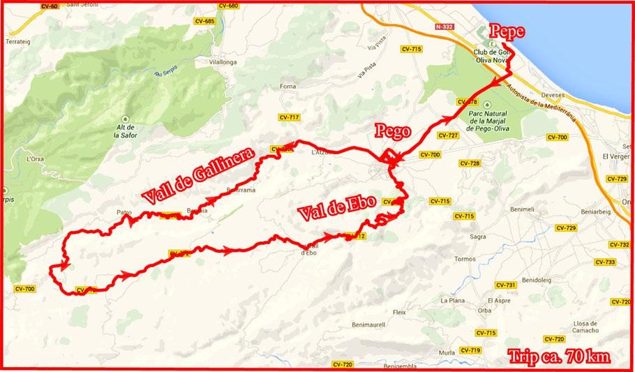 Trip ca. 70 km... [Download KMZ + GPX werden nachgereicht]
