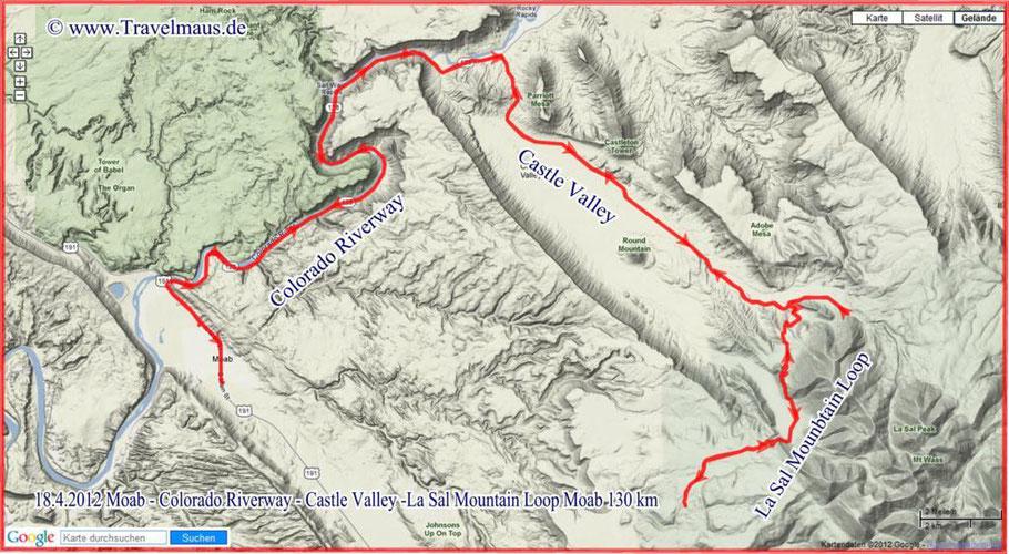 Rund um Moab-130 km