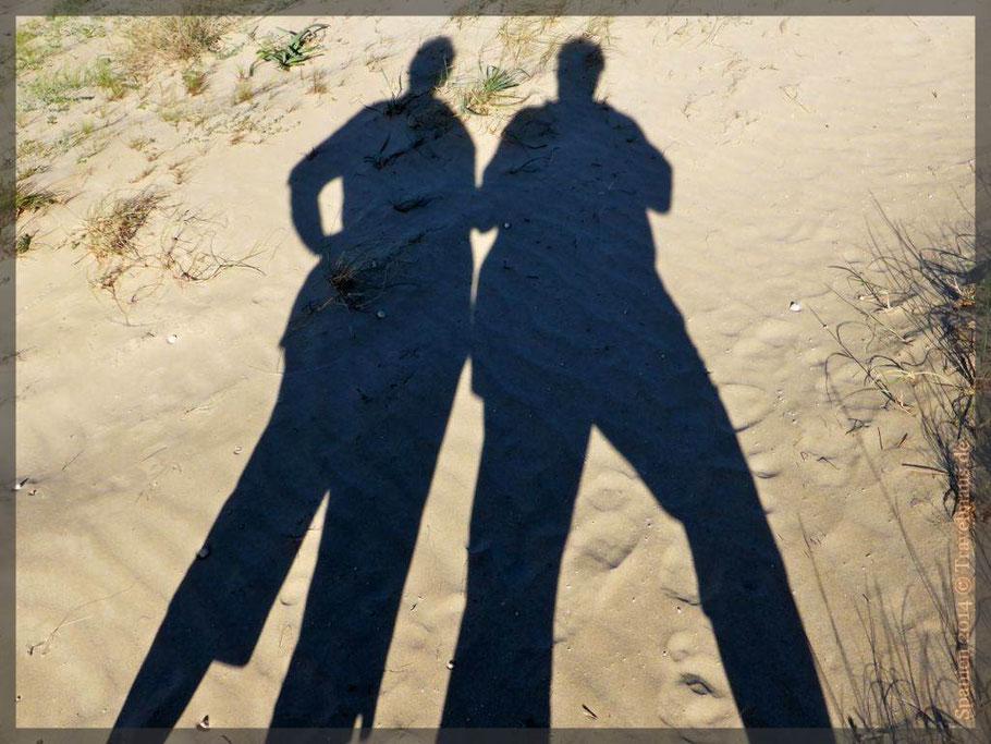 Schattenmenschen am Strand...