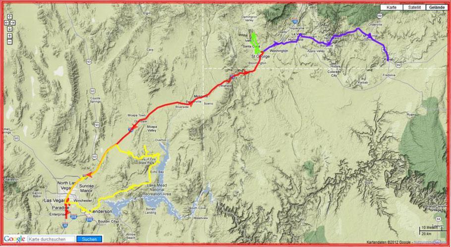 Wochenkarte 23.-29.4.2012 - 660 km